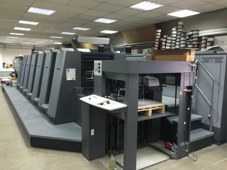 Offsetdruckmaschine der Druckerei Sericolor Nürnberg