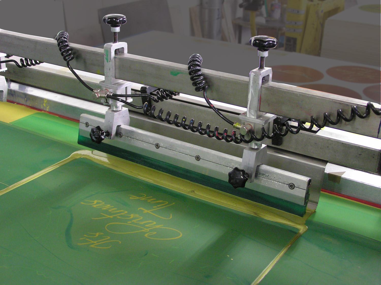 Siebdruckmaschine der Druckerei Sericolor Nürnberg